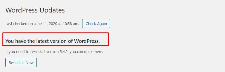 update-wordress-core