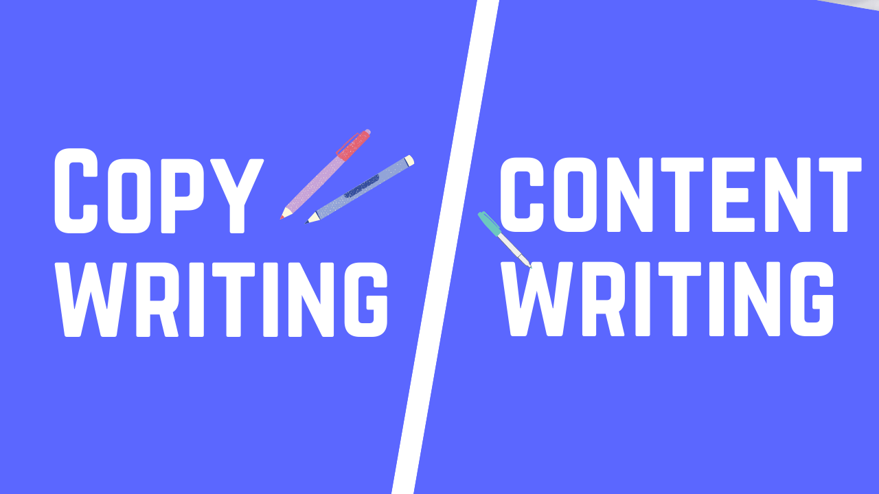 Copywriting Vs Content Writing- the actual difference
